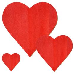 Sperrholz Zuschnitte Rot - Herzen - Größenauswahl – Bild 1