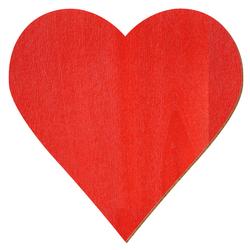 Sperrholz Zuschnitte Rot - Herzen - Größenauswahl – Bild 2