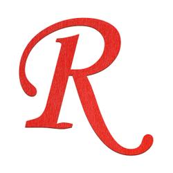 Sperrholz Buchstaben Rot - MT5-20 - Wunschtext/Schriftzug mit Größenauswahl – Bild 19