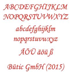 Sperrholz Buchstaben Rot - MT5-20 - Wunschtext/Schriftzug mit Größenauswahl – Bild 1