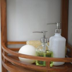 Badezimmer Eckregal aus massiven Teakholz 107 x 37 x 37cm – Bild 4