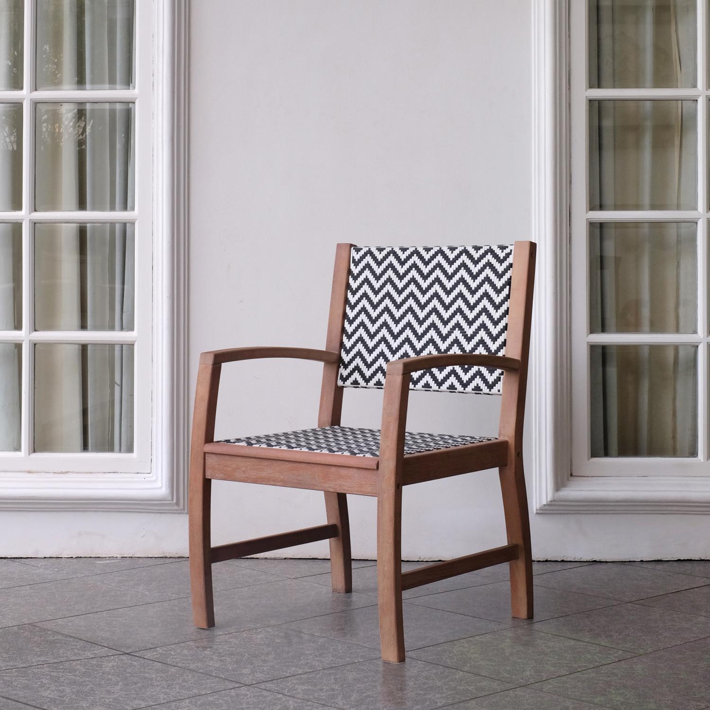 Garten Esstischgruppe Abbey 1 Tisch 4 Stühle Mahagonirattan