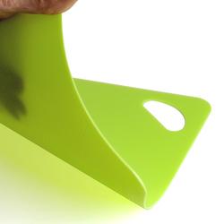 Flexibles Kunststoff Schneidebrett - Unterlage eckig, farbige Brettchen – Bild 2