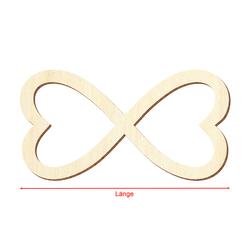 Sperrholz Zuschnitte - Unendlichkeitszeichen Love - Infinity - Pappel 3mm – Bild 3