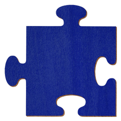 Bütic Sperrholz Zuschnitte Dunkelblau - Puzzle - Größenauswahl - Pappel 3mm – Bild 1