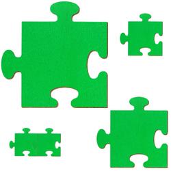 Bütic Sperrholz Zuschnitte Grün - Puzzle - Größenauswahl - Pappel 3mm – Bild 2