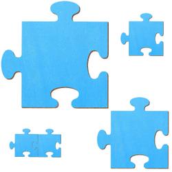 Bütic Sperrholz Zuschnitte Hellblau - Puzzle - Größenauswahl - Pappel 3mm – Bild 2