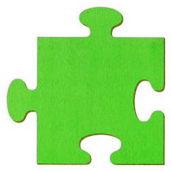 Bütic Sperrholz Zuschnitte Hellgrün - Puzzle - Größenauswahl - Pappel 3mm – Bild 1
