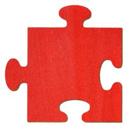 Bütic Sperrholz Zuschnitte Rot - Puzzle - Größenauswahl - Pappel 3mm – Bild 1