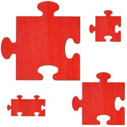 Bütic Sperrholz Zuschnitte Rot - Puzzle - Größenauswahl - Pappel 3mm – Bild 2