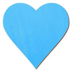 Bütic Sperrholz Zuschnitte Hellblau - Herzen - Größenauswahl – Bild 1