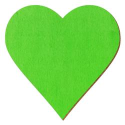 Bütic Sperrholz Zuschnitte Hellgrün - Herzen - Größenauswahl – Bild 1