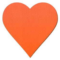 Bütic Sperrholz Zuschnitte Orange - Herzen - Größenauswahl – Bild 1