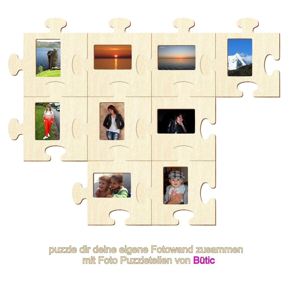 Bütic Sperrholz Foto Puzzle Bilderrahmen naturbelassen
