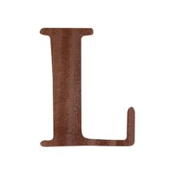 Holz-Furnier Buchstaben - Magnolia - Schriftzug aus dunklem 0,6mm Echtholzfurnier - Größenauswahl – Bild 15