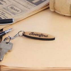Echtholz Liebes-Anhänger individuell graviert Schlüsselanhänger – Bild 4