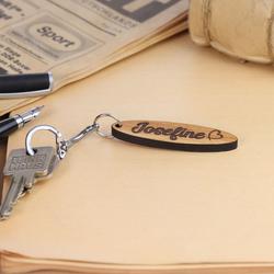 Echtholz Liebes-Anhänger individuell graviert Schlüsselanhänger – Bild 6