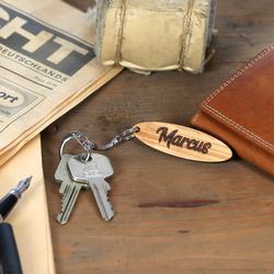 Echtholz Liebes-Anhänger individuell graviert Schlüsselanhänger – Bild 2