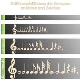 Bütic Sperrholz Musiknoten - Noten Zeichen