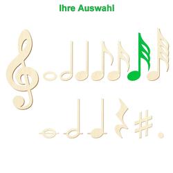 Bütic Sperrholz Musiknoten - Noten Zeichen – Bild 22