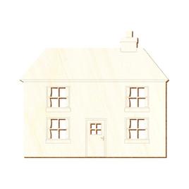 Sperrholz Zuschnitte - Einfamilienhaus Haus - Pappel 3mm