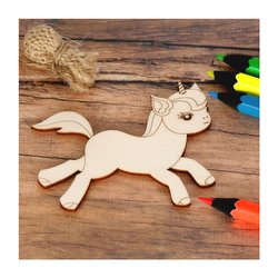 Sperrholz Zuschnitte mit Kontur - Einhorn Unicorn -  – Bild 4