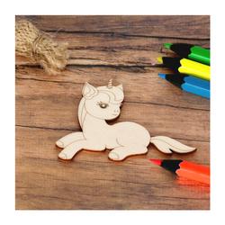 Sperrholz Zuschnitte mit Kontur - Einhorn Unicorn -  – Bild 7
