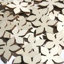 Holz Blumen Enzian - 1-10cm Streudeko Basteln Deko Tischdeko – Bild 2