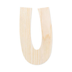 Holz-Furnier Buchstaben - Anatawa - Schriftzug aus hellem 0,6mm Echtholzfurnier - Größenauswahl – Bild 22