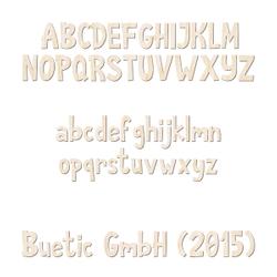 Holz-Furnier Buchstaben - Anatawa - Schriftzug aus hellem 0,6mm Echtholzfurnier - Größenauswahl – Bild 1