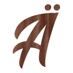Holz-Furnier Buchstaben - BHeart - Schriftzug aus dunklem 0,6mm Echtholzfurnier - Größenauswahl – Bild 3