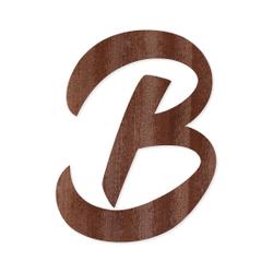 Holz-Furnier Buchstaben - BHeart - Schriftzug aus dunklem 0,6mm Echtholzfurnier - Größenauswahl – Bild 4