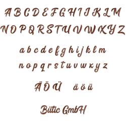 Holz-Furnier Buchstaben - BHeart - Schriftzug aus dunklem 0,6mm Echtholzfurnier - Größenauswahl – Bild 1