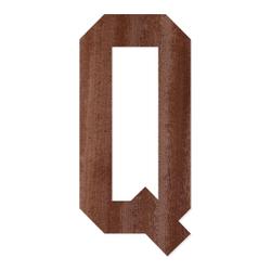Holz-Furnier Buchstaben - College Block - Schriftzug aus dunklem 0,6mm Echtholzfurnier - Größenauswahl – Bild 18