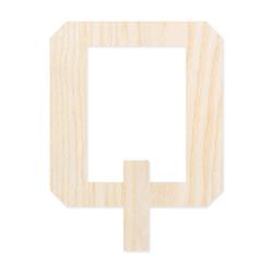 Holz-Furnier Buchstaben/Zahlen - Knox - Schriftzug aus hellem 0,6mm Echtholzfurnier - Größenauswahl – Bild 18