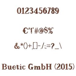 Zahlen / Sonderzeichen in dunklem Echtholzfurnier - Magnolia - Größenauswahl