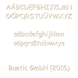 Holz Buchstaben - Comic Sans MS - Wunschtext/Schriftzug mit Größenauswahl