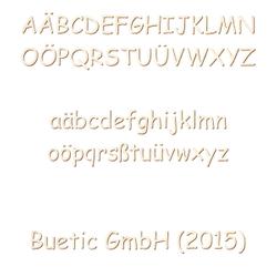 Holz Buchstaben - Comic Sans MS - Wunschtext/Schriftzug mit Größenauswahl – Bild 1