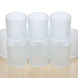 gefrostetes Votivglas Teelichtgläser Ø 70mm Teelichter Windlicht Teelicht – Bild 2