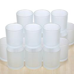 gefrostetes Votivglas Teelichtgläser Ø 70mm Teelichter Windlicht Teelicht – Bild 3