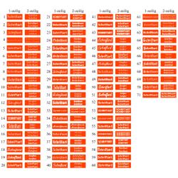 Klingelschild Namensschild Türschild selbstklebend 50-70mm - Größe/Farbe/Schrift – Bild 15