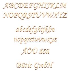 selbstklebende Holz Buchstaben - MT - Wunschtext/Schriftzug mit Größenauswahl – Bild 1