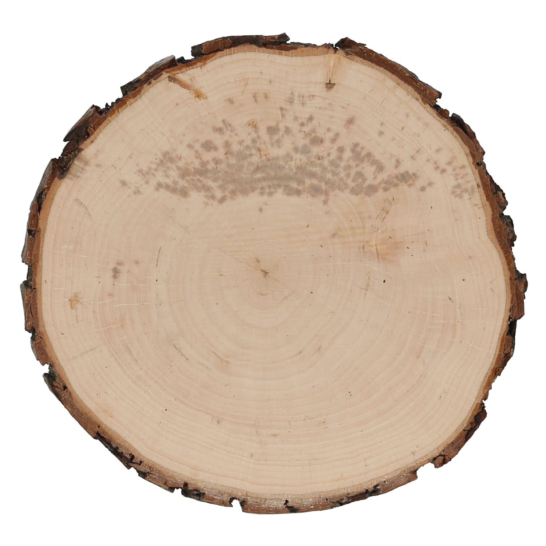 Pack mit:10 St/ück Holzscheiben /Ø 1-10cm Streudeko Basteln Deko Echt Holz Furnier Kreise medium Gr/ö/ße:Kreise 7cm