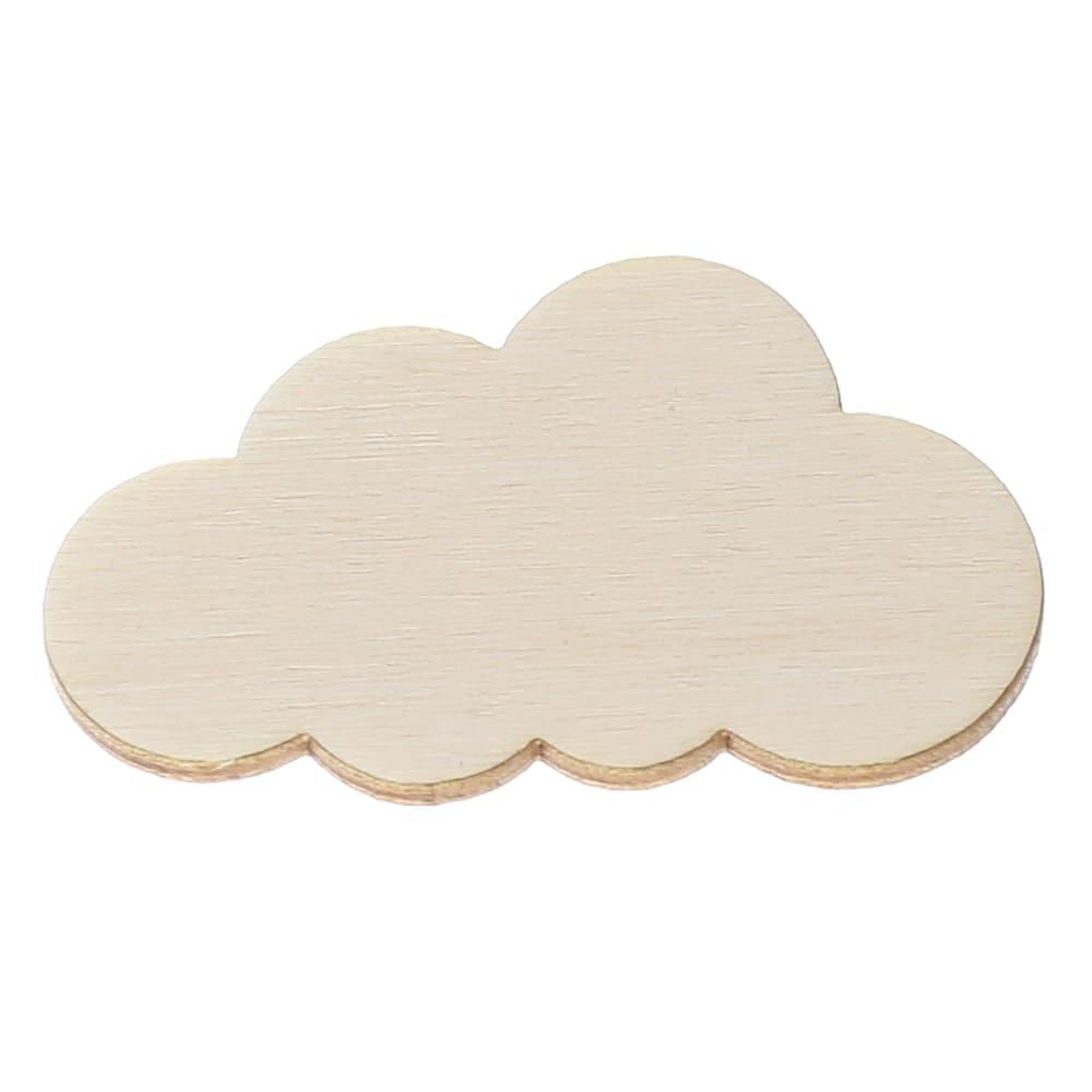 Schwarze Holz Wolken Deko Zuschnitte Größenauswahl