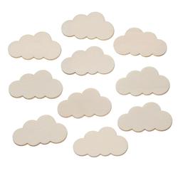 Holz Wolken - 1-60cm Streudeko Basteln Deko Tischdeko – Bild 2