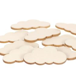 Holz Wolken - 1-60cm Streudeko Basteln Deko Tischdeko – Bild 3