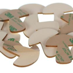 selbstklebende Holz Pilze - 1-10cm Wanddeko Basteln Deko Tischdeko – Bild 3