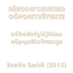 Holz Buchstaben aus hellem Echtholzfurnier - Bauhaus93 - Wunschtext/Schriftzug mit Größenauswahl – Bild 1