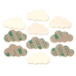 selbstklebende Holz Wolken - 1-10cm Wanddeko Basteln Deko Tischdeko – Bild 1