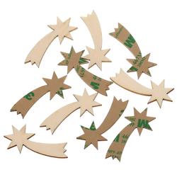 selbstklebende Holz Sternschnuppen - 1-10cm Wanddeko Basteln Deko Tischdeko – Bild 1